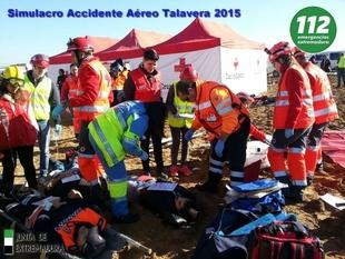 El 112 de Extremadura realiza este viernes en Mérida un simulacro de accidente aéreo para evaluar planes de emergencias
