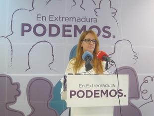 Podemos Extremadura insta a Vara a asumir ''responsabilidades políticas'' y hacer ''autocrítica'' de sus dos años de mandato