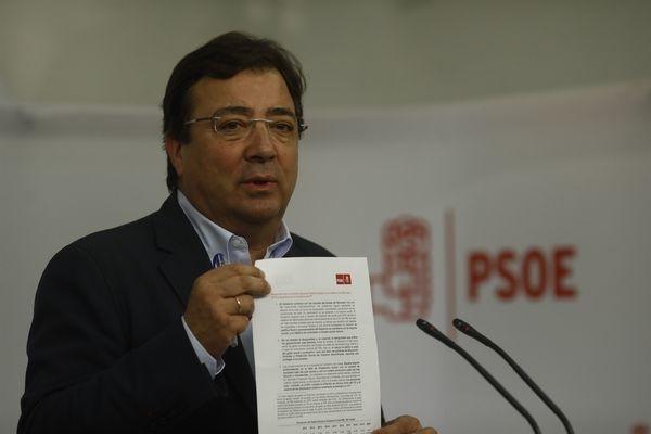 Fernández Vara: 'Cataluña es la única comunidad que no tiene el estatuto que quiso tener'