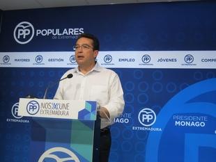 El PP de Extremadura considera que con las primarias del PSOE 'se vuelve a constatar' que este partido está 'roto'