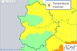Varios puntos de Extremadura continúan este viernes en riesgo por altas temperaturas