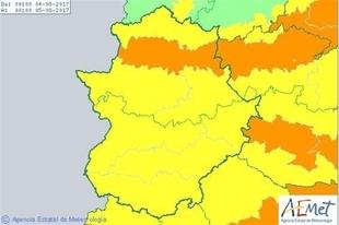 Extremadura en nivel amarillo de riesgo, por máximas de entre 37 y 39 grados