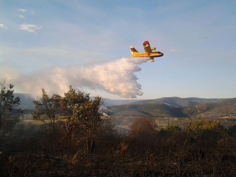 Protección Civil coordina el envío de 31 efectivos y 10 vehículos a la lucha contra el fuego en Portugal