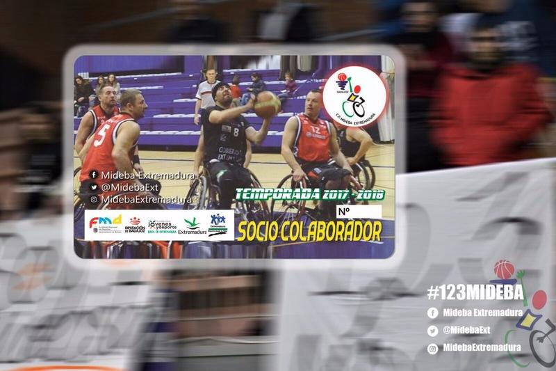 El Mideba Extremadura lanza un carnet de socio colaborador para apoyar al equipo