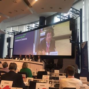 Fernández Vara apela en el Comité Europeo de las Regiones a la legalidad para resolver la crisis en Cataluña