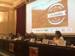 Begoña García participa en la presentación de la Otoñada del Jerte