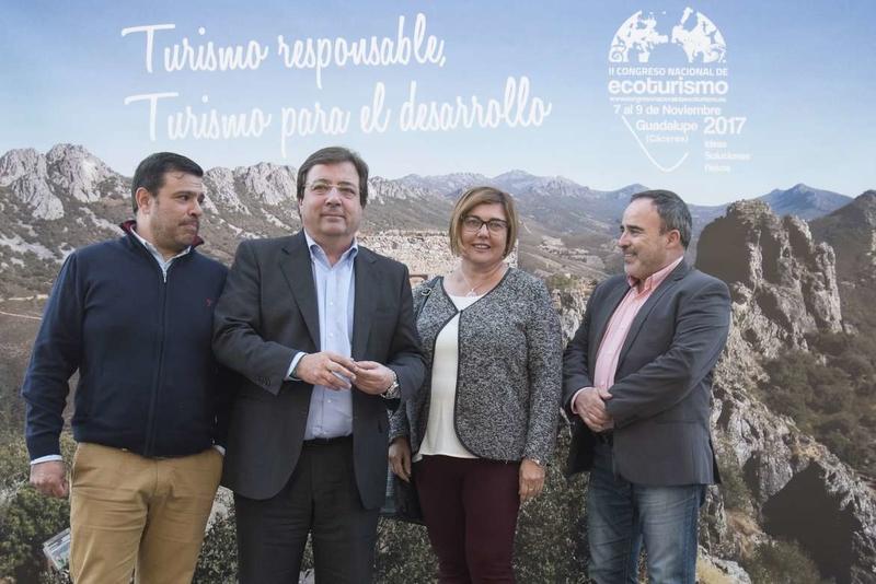 Fernández Vara afirma que el turismo sostenible aporta calidad al crecimiento económico y posibilita la aparición de nuevos empleos