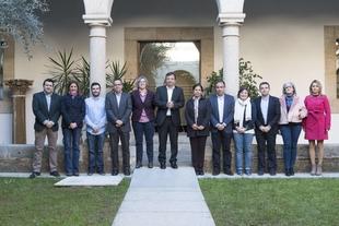 El presidente de la Junta de Extremadura preside la reunión del Patronato de la Fundación Jóvenes y Deporte