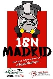 JJSS lanza la campaña 'Haz que Extremadura sea #TRENdingtopic' con motivo de la concentración del sábado en Madrid