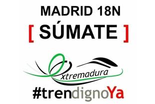 La música y la lectura de un manifiesto centrarán la reivindicación de Extremadura por un tren digno el sábado en Madrid