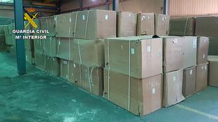 La Guardia Civil realiza la mayor aprehensión de hojas de tabaco de Europa con la incautación de 250 toneladas