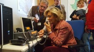 La delegada del Gobierno realiza un simulacro de telecomunicaciones del operativo de emergencias ante un terremoto en la región