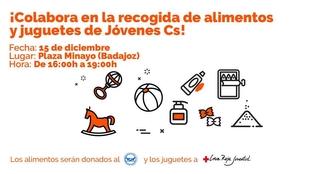 Ciudadanos organiza en Cáceres, Mérida y Badajoz campañas de recogida de juguetes y alimentos para esta Navidad