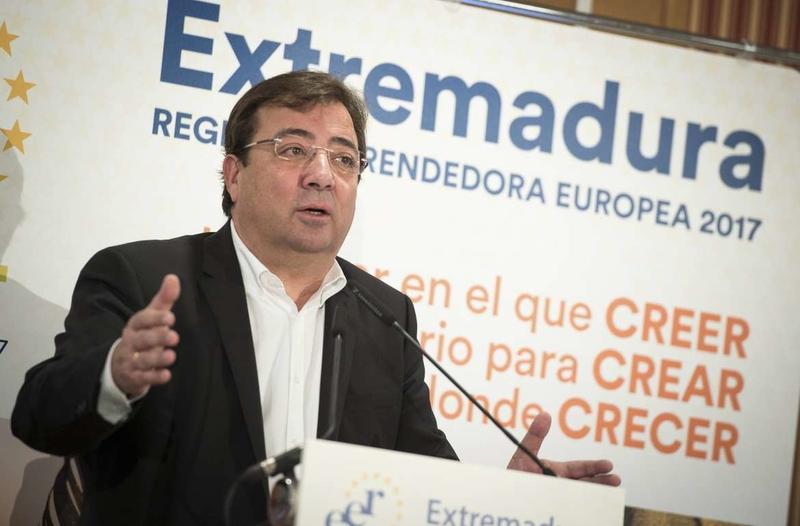 Fernández Vara destaca las adecuadas condiciones para el emprendimiento en la clausura del Año Extremadura Región Emprendedora