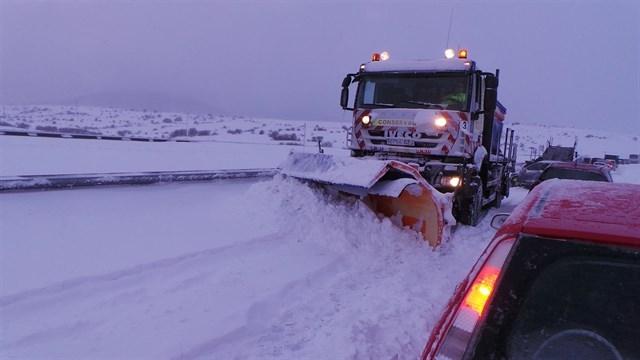 Preparadas para hacer frente a las nevadas en Asturias, Castilla y León, Extremadura, Galicia y Madrid 716 máquinas quitanieves