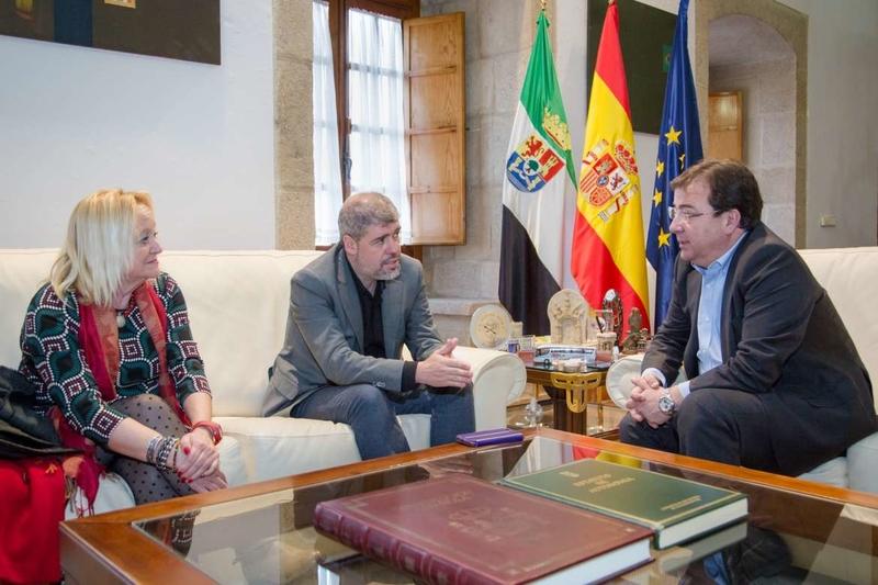 Vara recibe al secretario general de CC.OO, Unai Sordo