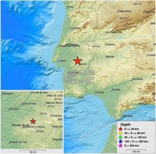 Localizado en Portugal un terremoto que causa temblores en toda Extremadura