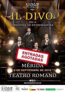 Entradas agotadas para el concierto de Il Divo con la Orquesta de Extremadura