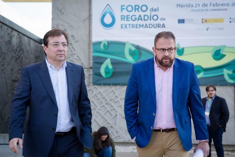 Fernández Vara apuesta por el regadío para dar respuesta a las necesidades de Extremadura