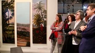 La consejera de Cultura e Igualdad visita a los y las participantes de la Feria ArcoMadrid 2018