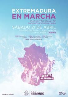 Podemos debate sobre su acción política en 'Extremadura en marcha'