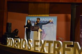 Podemos aboga por construir un proyecto para Extremadura con sanidad, pensiones y empleos dignos