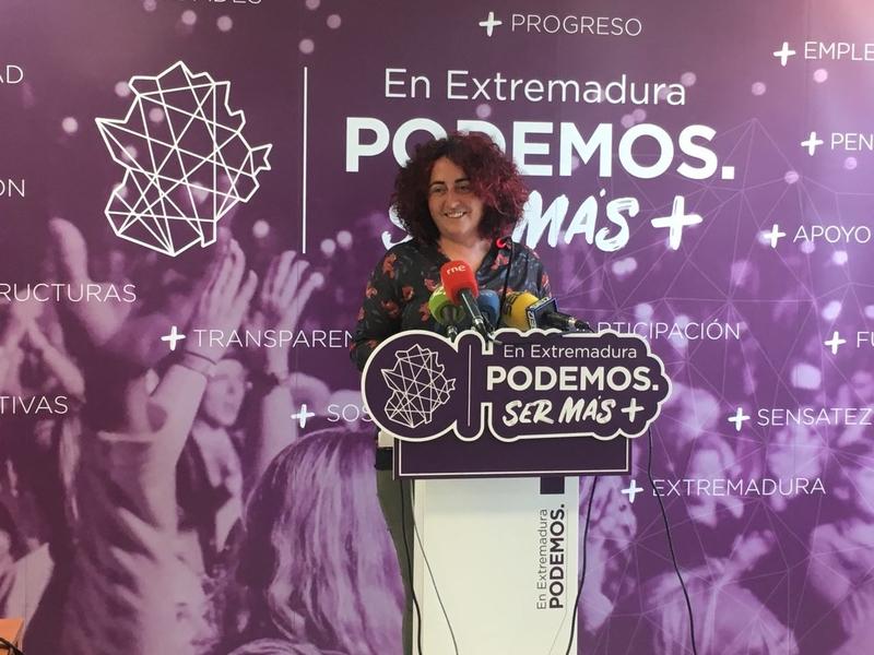 Podemos presenta una treintena de enmiendas a los PGE ''para sacar a Extremadura del vagón de cola''
