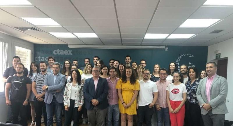 Clausura de la formación en CTAEX de los primeros contratados del Plan de Empleo Joven
