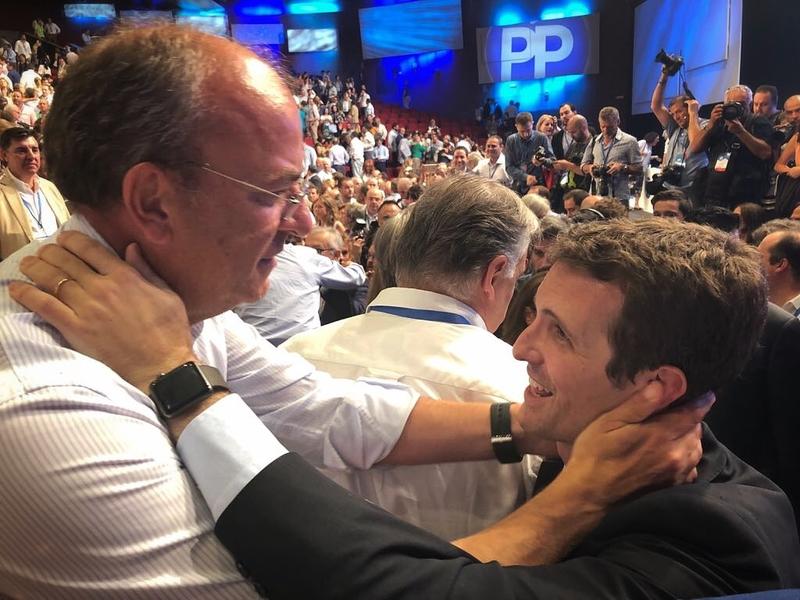 Monago felicita a Pablo Casado por ''renovar la ilusión y el optimismo'' del PP