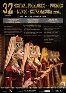 Grupos de Georgia, Perú, Panamá o Rusia actúan hoy en cinco localidades extremeñas en el marco del Festival Folklórico