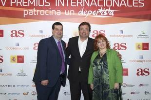 Fernández Vara asiste a la entrega de los IV Premios Internacionales Patrocina un Deportista