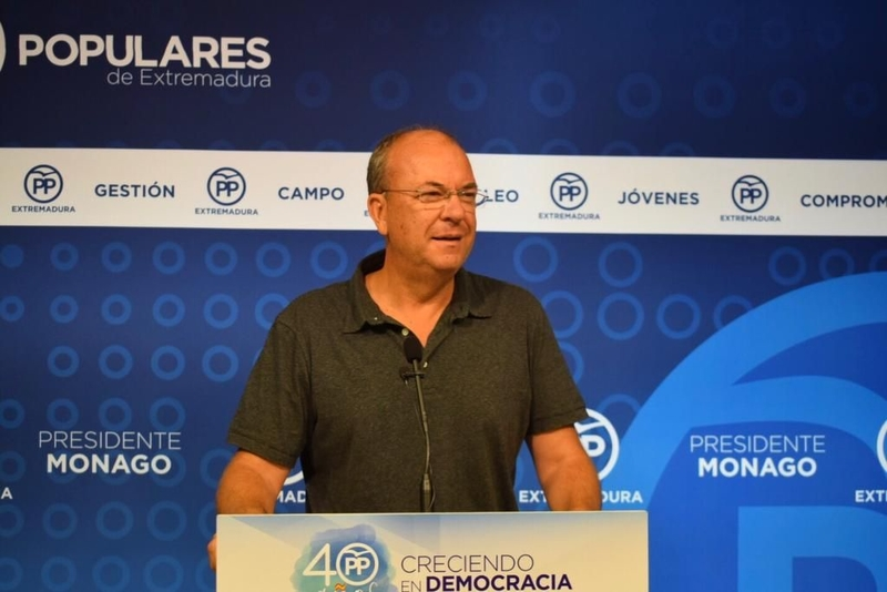 Monago propone que se haga cada año la manifestación en Madrid por un tren digno