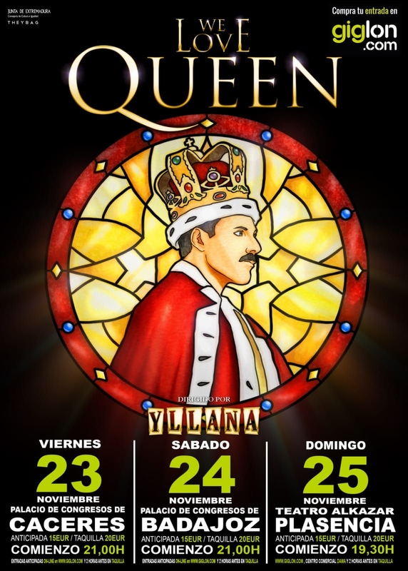Llega a Extremadura el Musical ''We love Queen''
