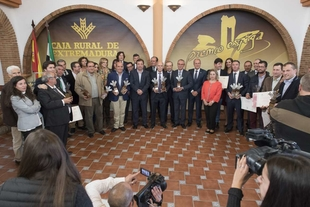 Vara ensalza la calidad del cava y el jamón extremeños en el acto de entrega de los Premios Espiga