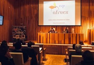 Begoña García destaca el trabajo conjunto con AFRUEX para potenciar y fomentar las iniciativas del sector de la fruta