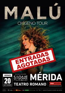 Malú agota en Mérida y ya es el segundo concierto del 'Stone 2019' con lleno absoluto