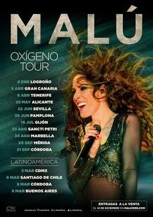 Las devolución de las entradas del concierto de Malú se realizará a partir del 8 de febrero tras la suspensión de la gira por parte de la artista