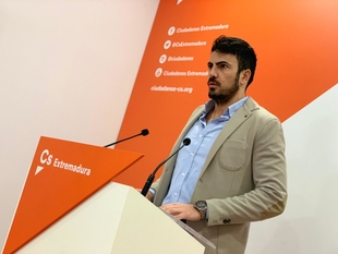 Salazar (Cs) afirma que Extremadura ''merece un proyecto de región'' que mejore las cifras de paro ''y así lo harán saber los extremeños en mayo''