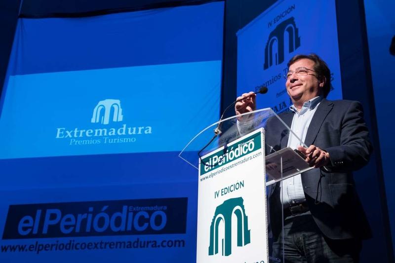 Fernández Vara valora el trabajo, el esfuerzo y el compromiso del sector turístico extremeño