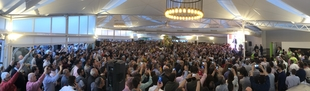 Santiago Abascal protagoniza, en Mérida, el mayor acto de la campaña electoral en Extremadura