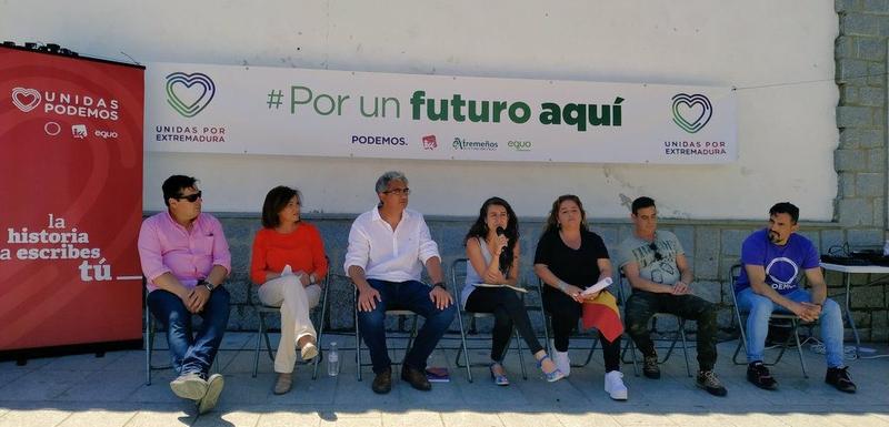 Irene de Miguel: ''Unidas Por Extremadura es la única garantía de que se desarrollen políticas que beneficien a la mayoría social de nuestra región''