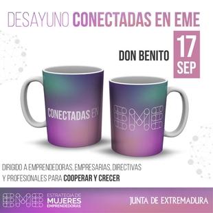 La Dirección General de Empresa celebrará el 17 de septiembre en Don Benito el octavo desayuno de la red profesional 'Conectadas en EME'