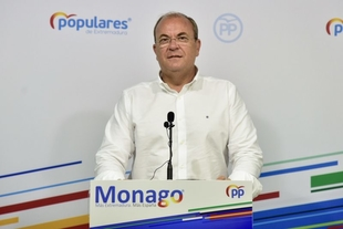 Monago critica que el PSOE ''saque pecho'' con la estación ferroviaria de la Plataforma Logística cuando lo han retrasado en dos ocasiones