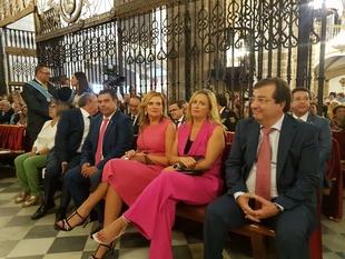 Fernández Vara asiste a los actos conmemorativos del Día de Extremadura en Guadalupe