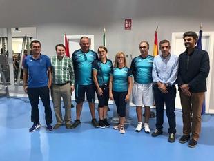 El director general de Deportes inaugura el gimnasio municipal de Guareña
