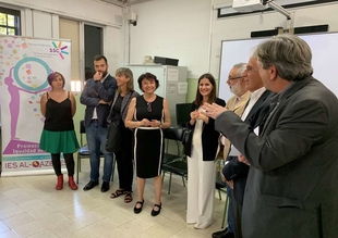 Gil Rosiña y la secretaria de Estado de Igualdad mantienen un encuentro con estudiantes de promoción de igualdad de género