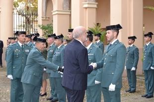 Félix Azón visita diferentes unidades de la Guardia Civil en Extremadura