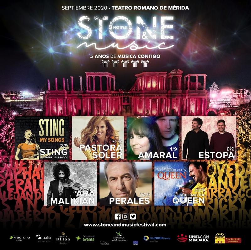 El cantante británico Sting abrirá la quinta edición del Stone & Music Festival