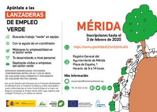 Una nueva Lanzadera Verde en Mérida fomentará la inserción laboral de 20 personas en el sector medioambiental