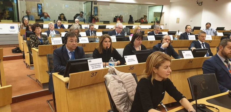 El presidente extremeño aboga por la defensa y el cuidado del mundo rural en el Comité de las Regiones de Europa